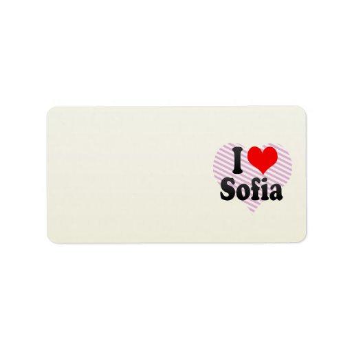 I love Sofia Personalized Address Label