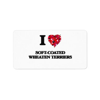 I love Soft-Coated Wheaten Terriers Address Label