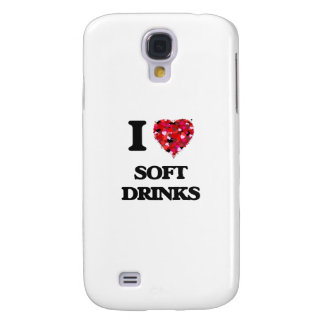 I Love Soft Drinks food design Samsung Galaxy S4 Cases