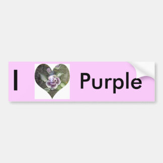 I love Soft Rose Car Bumper Sticker
