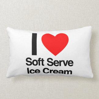 i love soft serve ice cream throw pillow