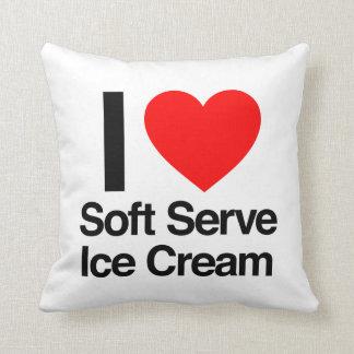 i love soft serve ice cream pillow