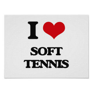 I Love Soft Tennis Posters