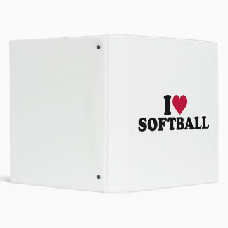 I love Softball 3 Ring Binder