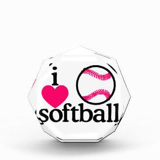 I Love Softball Acrylic Award