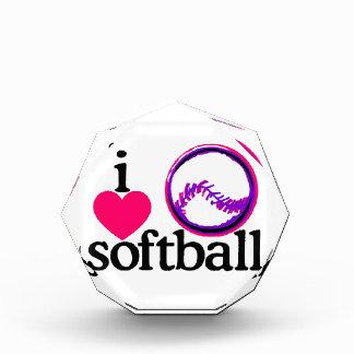 I Love Softball/Ball Acrylic Award