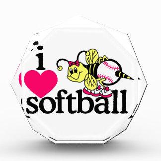 I Love Softball/Bee Acrylic Award