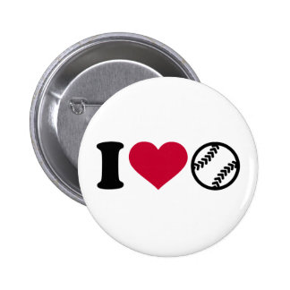 I love Softball Button