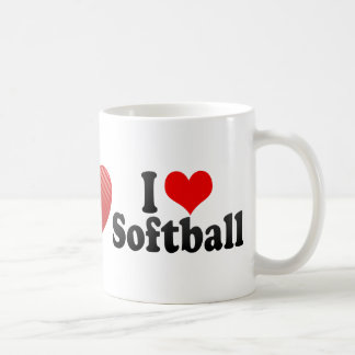 I Love Softball Classic White Coffee Mug