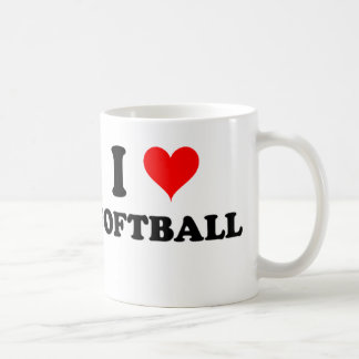 I Love Softball Coffee Mug