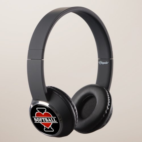 I Love Softball Headphones