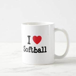 I love Softball heart custom personalized Classic White Coffee Mug