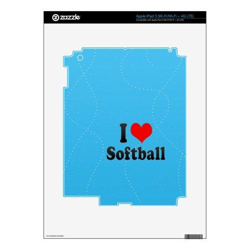 I love Softball iPad 3 Skins