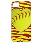 I Love Softball iPhone 5 Cases
