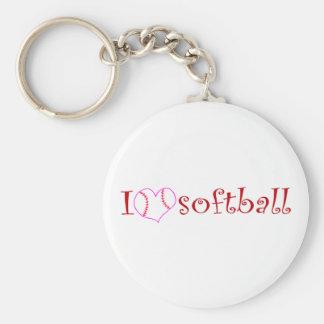 I love softball keychains