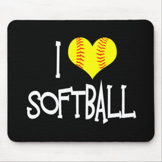 I love softball mouse pad