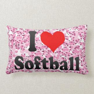 I love Softball Throw Pillows