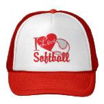 I Love Softball Red Trucker Hat