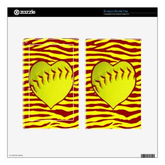 I Love Softball Skins For Kindle Fire