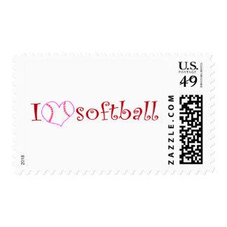 I love softball stamp