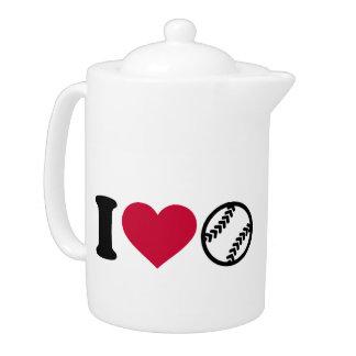 I love Softball Teapot
