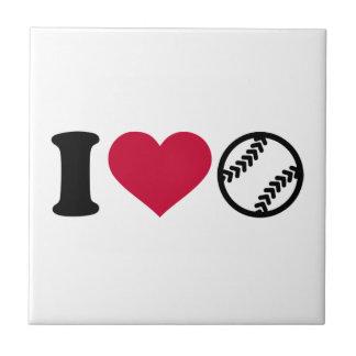 I love Softball Tile
