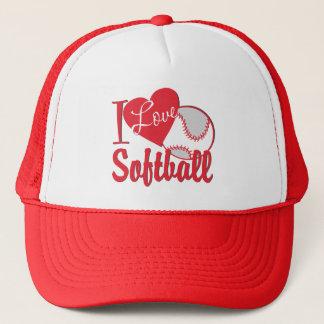 I Love Softball Trucker Hat