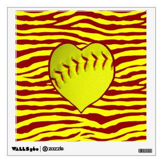 I Love Softball Wall Decal