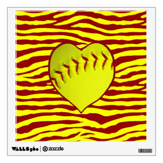 I Love Softball Wall Skins