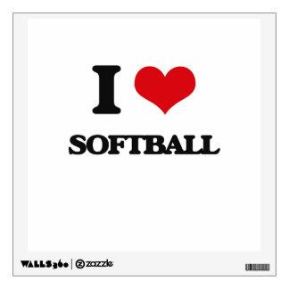 I love Softball Wall Skin