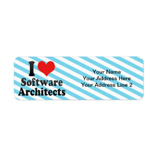 I Love Software Architects Return Address Labels