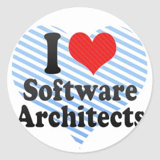 I Love Software Architects Stickers