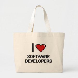 I love Software Developers Jumbo Tote Bag