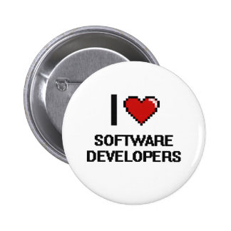 I love Software Developers 2 Inch Round Button