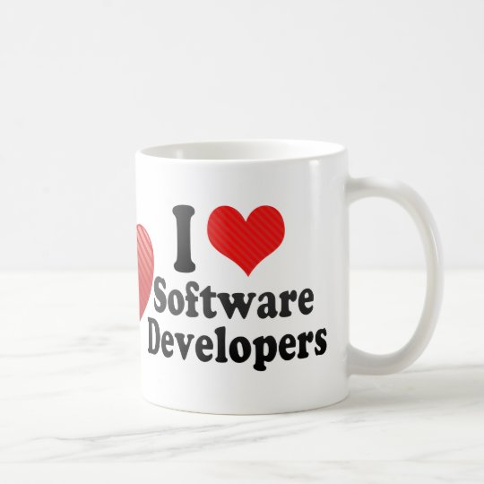 I Love Software Developers Coffee Mug