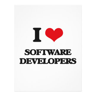 I love Software Developers Flyers