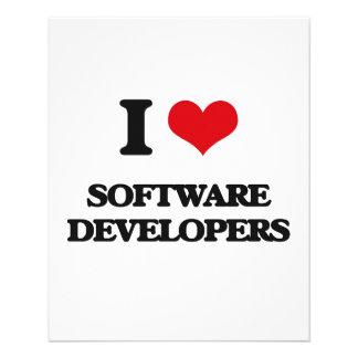 I love Software Developers Custom Flyer