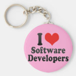 I Love Software Developers Keychains