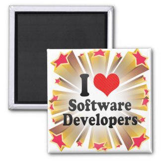 I Love Software Developers Refrigerator Magnets