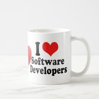 I Love Software Developers Classic White Coffee Mug