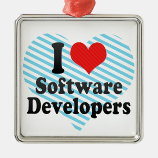 I Love Software Developers Christmas Tree Ornaments