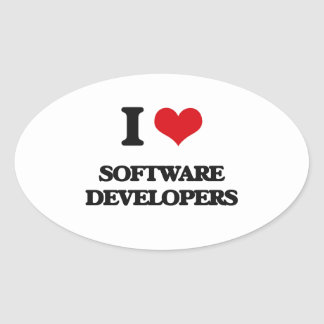 I love Software Developers Stickers