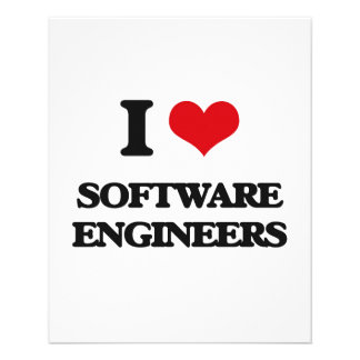 I love Software Engineers Personalized Flyer