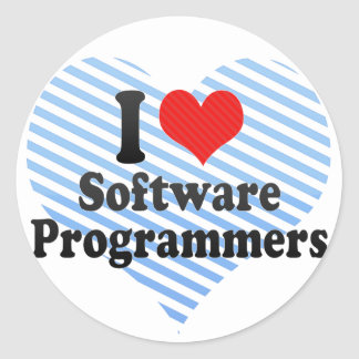 I Love Software Programmers Sticker