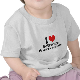 I Love Software Programmers Tee Shirt