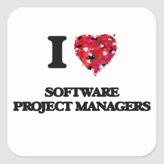 I love Software Project Managers Square Sticker