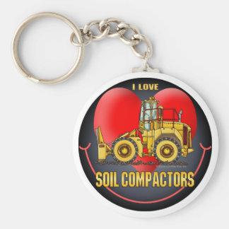 I Love Soil Compactors Key Chain