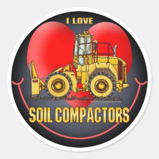 I Love Soil Compactors Kids Sticker