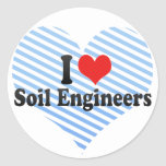 I Love Soil Engineers Classic Round Sticker