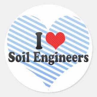 I Love Soil Engineers Round Sticker